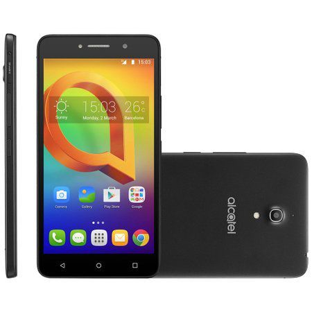 Smartphone A2 XL, 6, 3G, 16GB, 13MP, Dual Chip, Preto OT-8050J - Alcatel