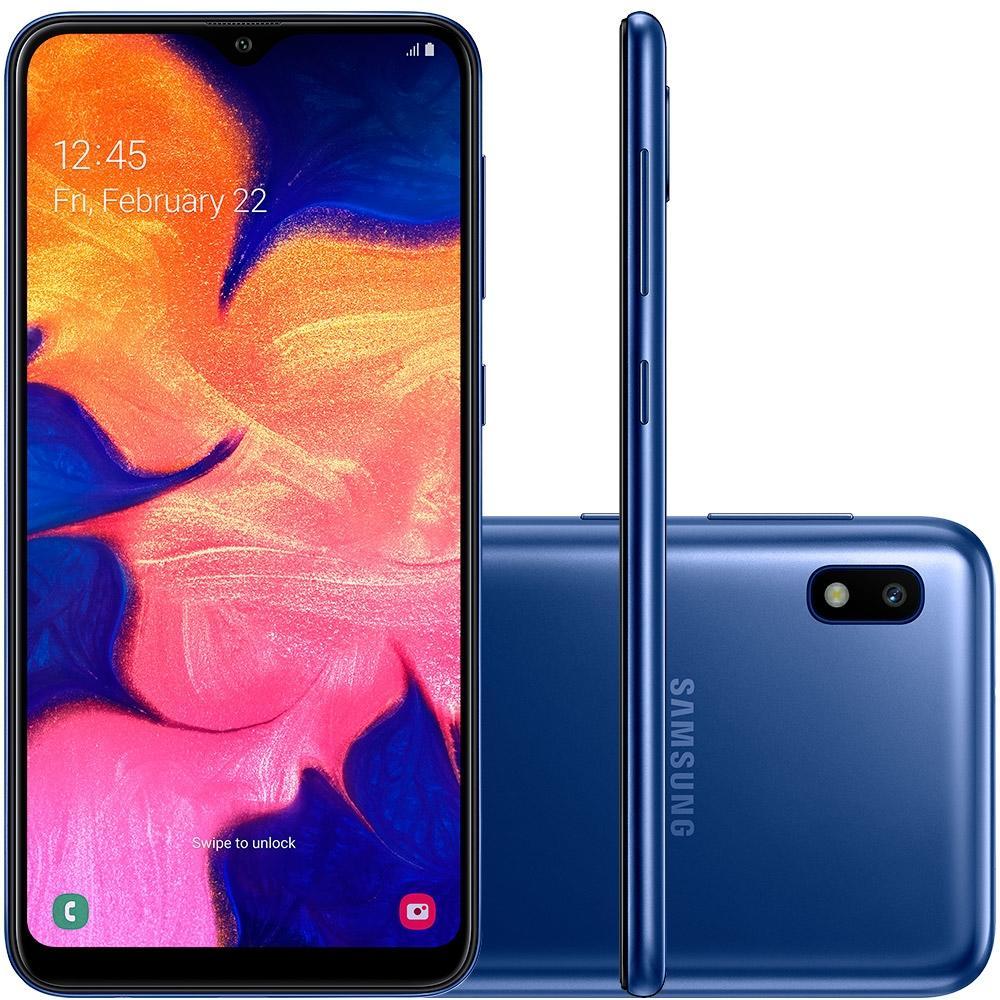 Smartphone Galaxy A10, 32GB, 13MP, Tela 6.2, Azul SM-A105M - Samsung