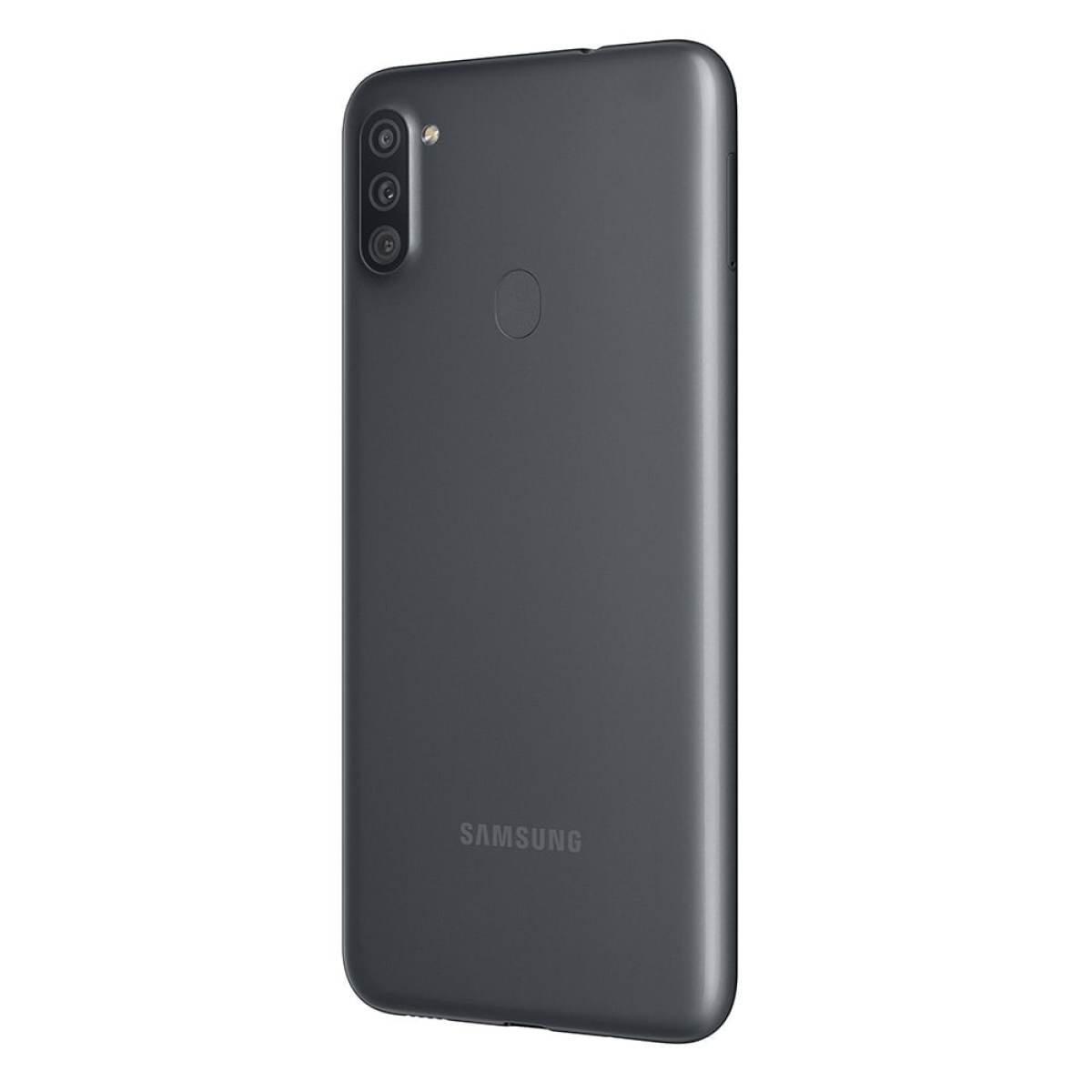Smartphone Galaxy A11 Preto Tela 6.4 4G+WI-Fi Android 10 Câm Traseira 13+5+2MP e Frontal 8MP 64GB - Samsung