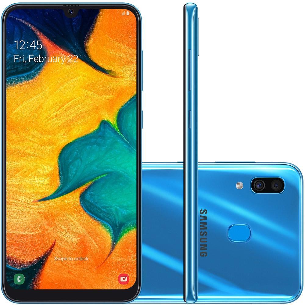 Smartphone Galaxy A30, 64GB, 16MP, Tela 6.4, Azul SM-A305GT - Samsung