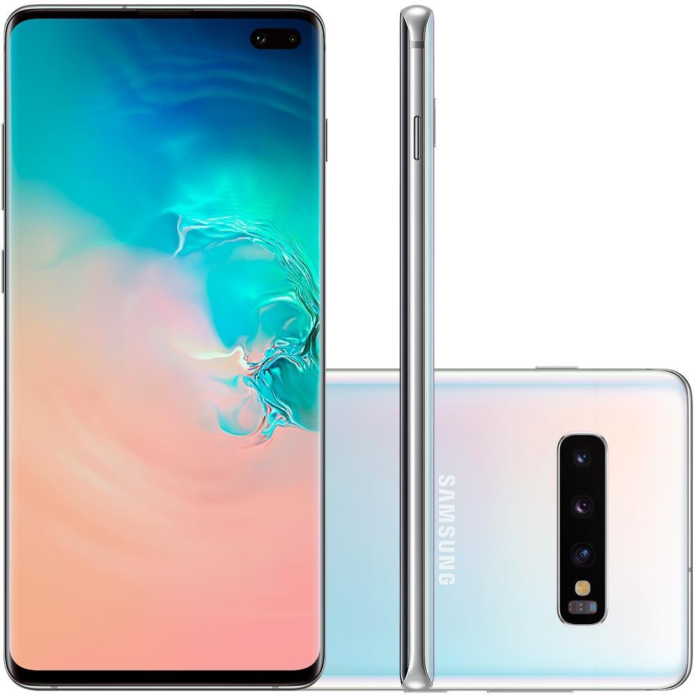 Smartphone Galaxy S10+, 128GB, 16MP, Tela 6.4, Branco, SM-G975F/1DL - Samsung