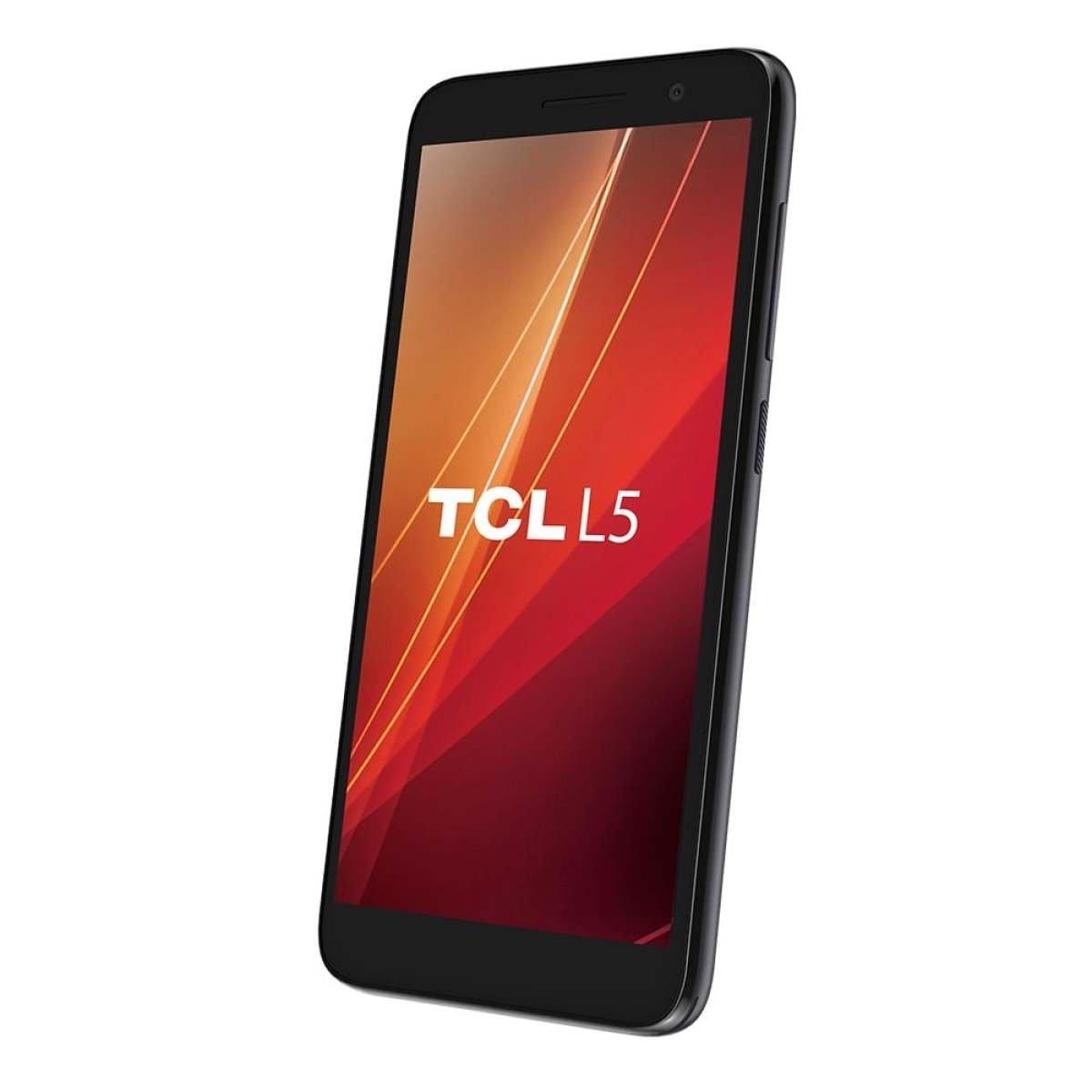 Smartphone L5 Preto Tela de 5 4G+Wi-Fi Android 8, Câm Tras de 8MP Frontal de 5MP 16GB 5033e - TCL