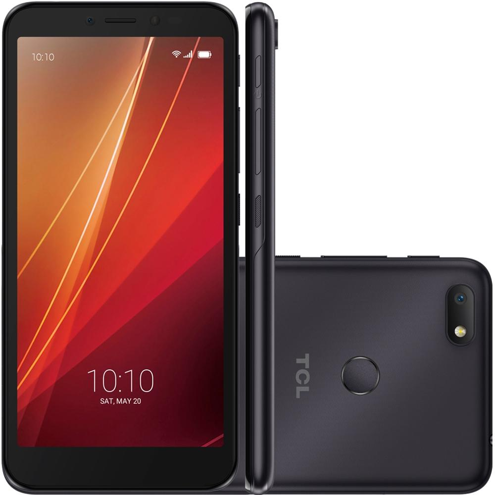 Smartphone L9 Plus 32GB 8MP Tela 5.5 TV Digital Preto 5101J desbloqueio facial - TCL