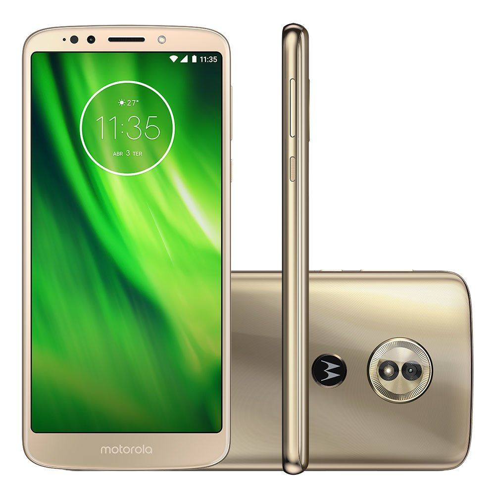 Smartphone Moto G6 Play XT1922 Octa-Core Android 8.0, Tela 5.7, 32GB, 13MP, 4G, Dual Chip Dourado - Motorola