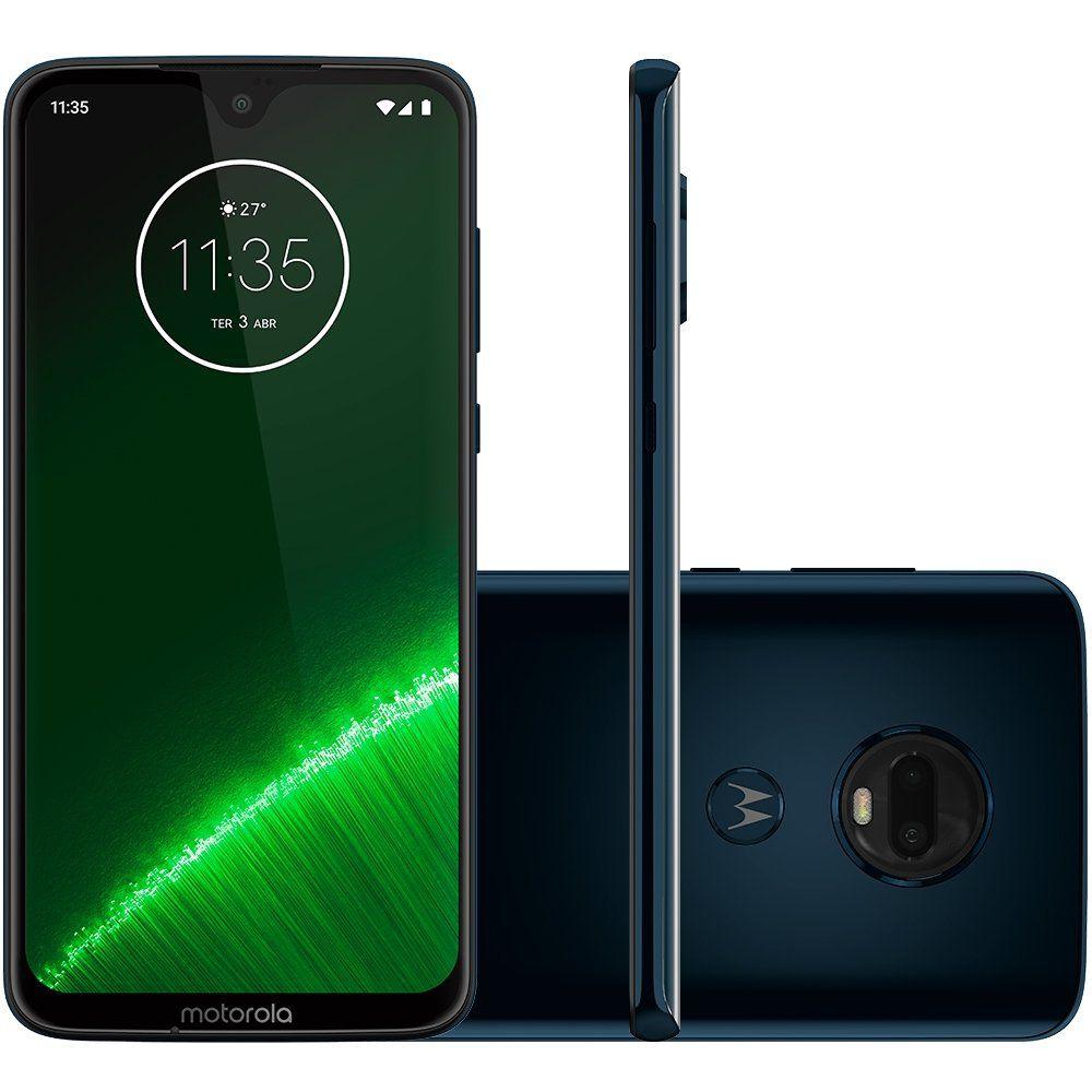 Smartphone Moto G7 Plus, 64GB, 16MP, Tela 6.2, Indigo XT1965-2 - Motorola