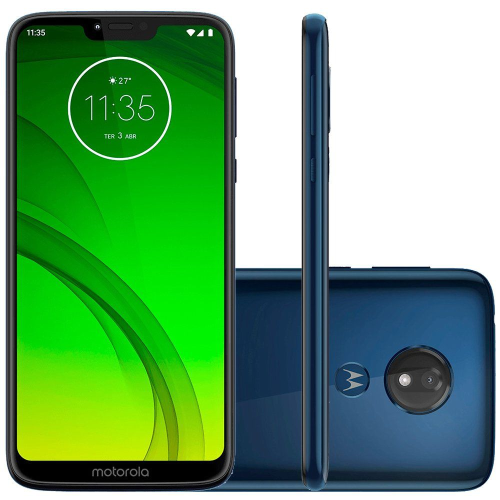 Smartphone Moto G7 Power, 32GB, 12MP, Tela 6.2, Azul Navy XT1955-1 - Motorola