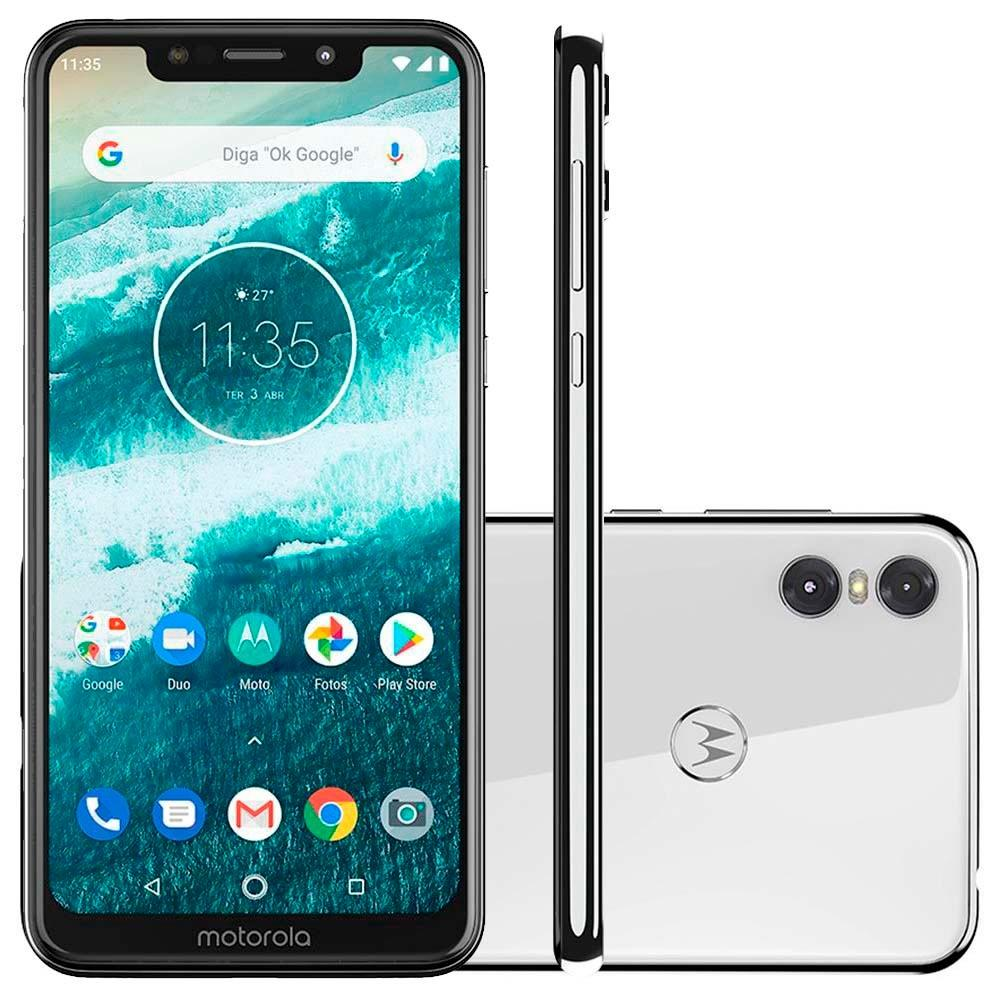 Smartphone One, 64GB, 13MP, Tela 5.9, Branco XT1941-3 - Motorola