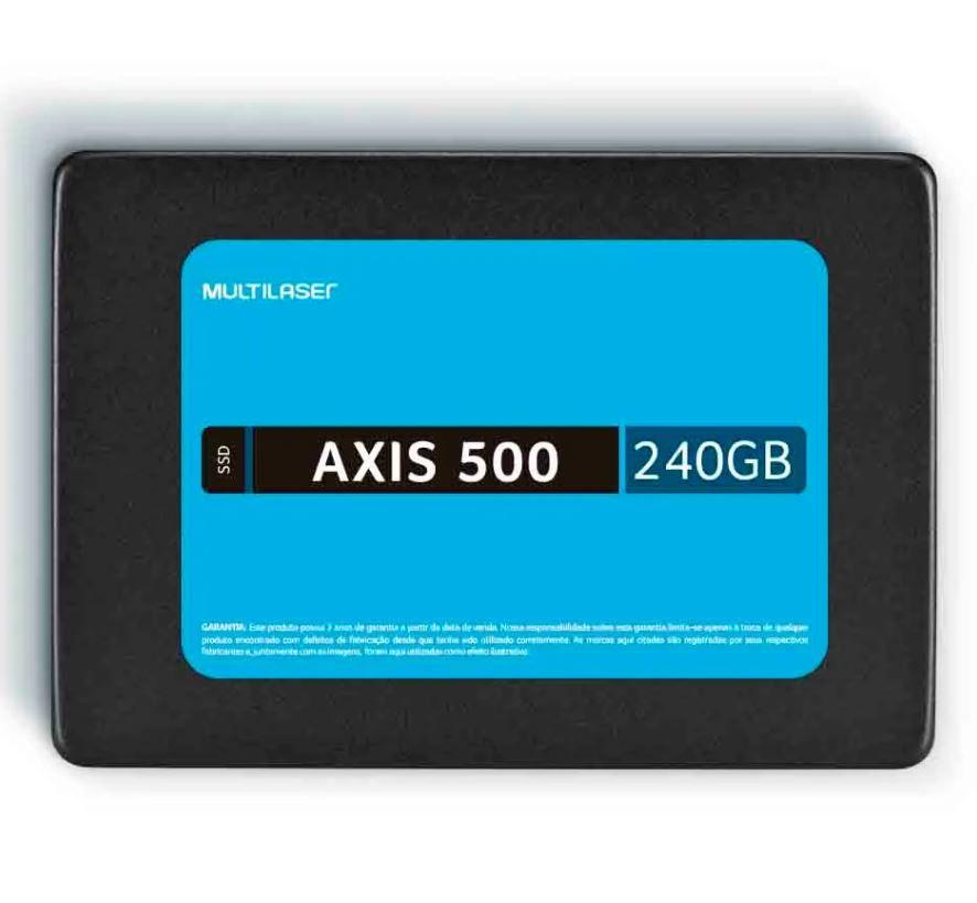 SSD 240GB Sata III Axis 500 SS200 500Mb de Leitura e Gravação 2,5  - Multilaser