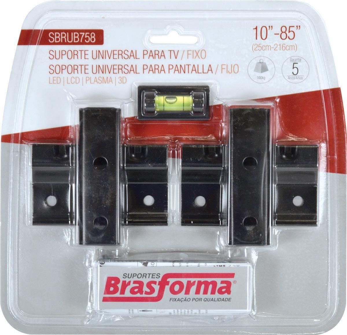 Suporte Universal TV/LCD SBRUB758B Preto Blister - BRASFORMA