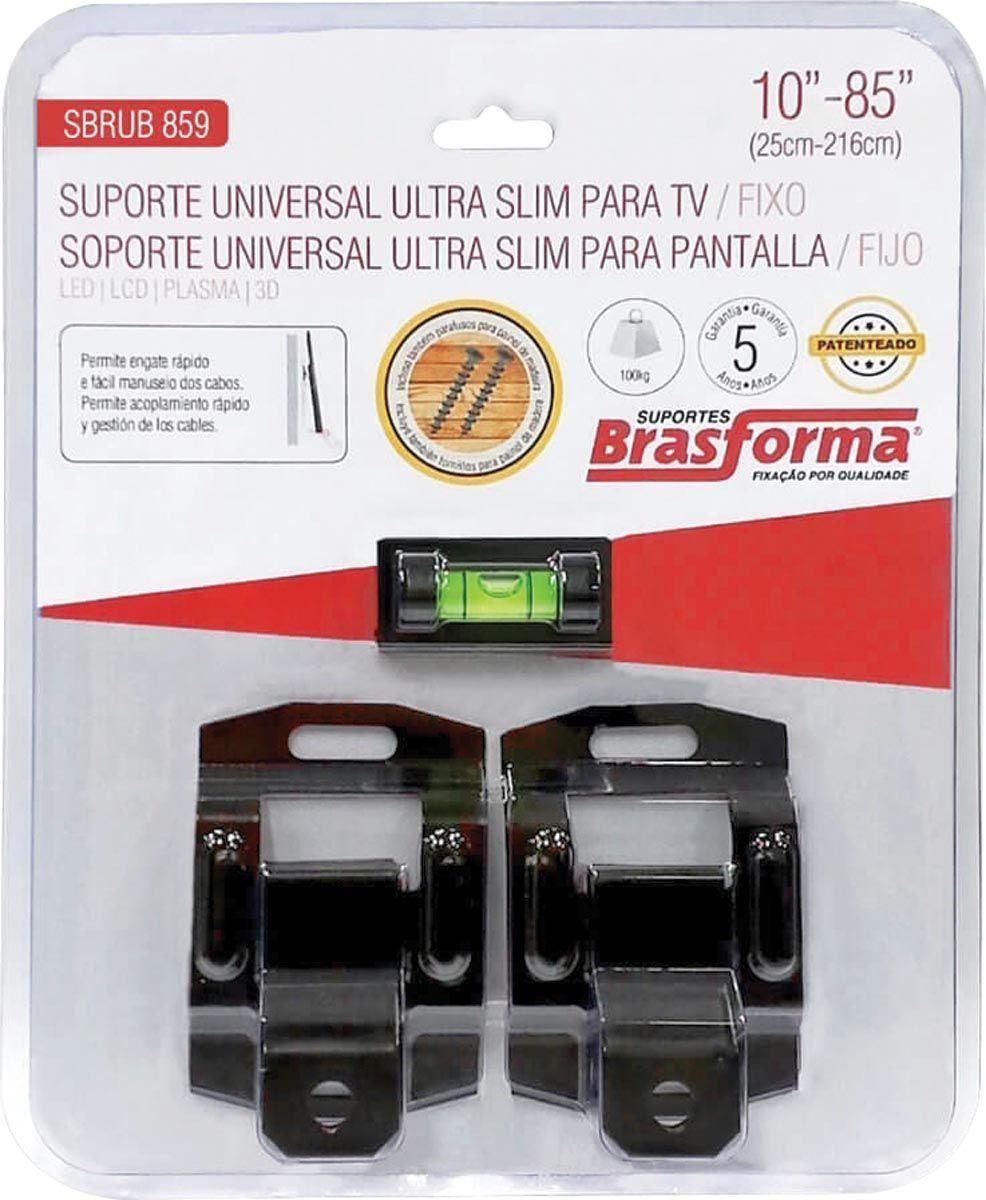 Suporte Universal Ultra Slim para TV/FIXO 10 a 85 SBRUB859 - Brasforma