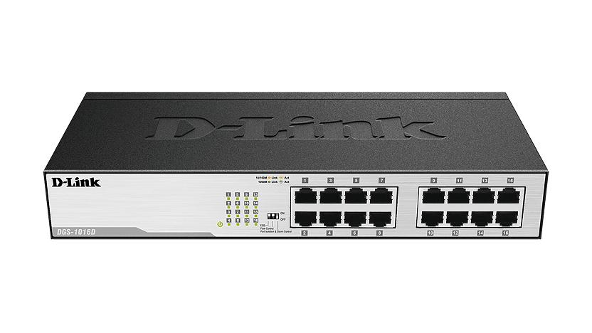 Switch 16 Portas Rack Gigabit 10/100/1000Mbps DGS-1016D - D-Link