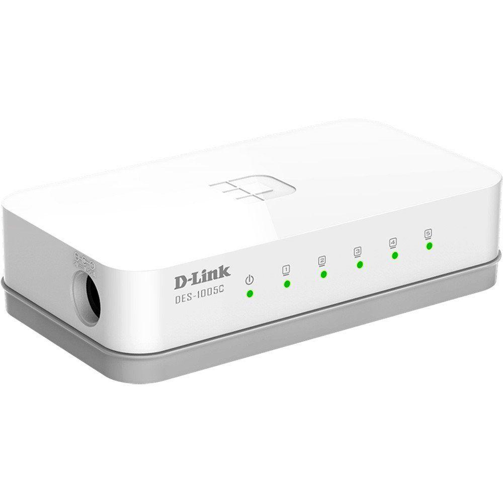 Switch 5 Portas 10/100 DES-1005C - D-Link