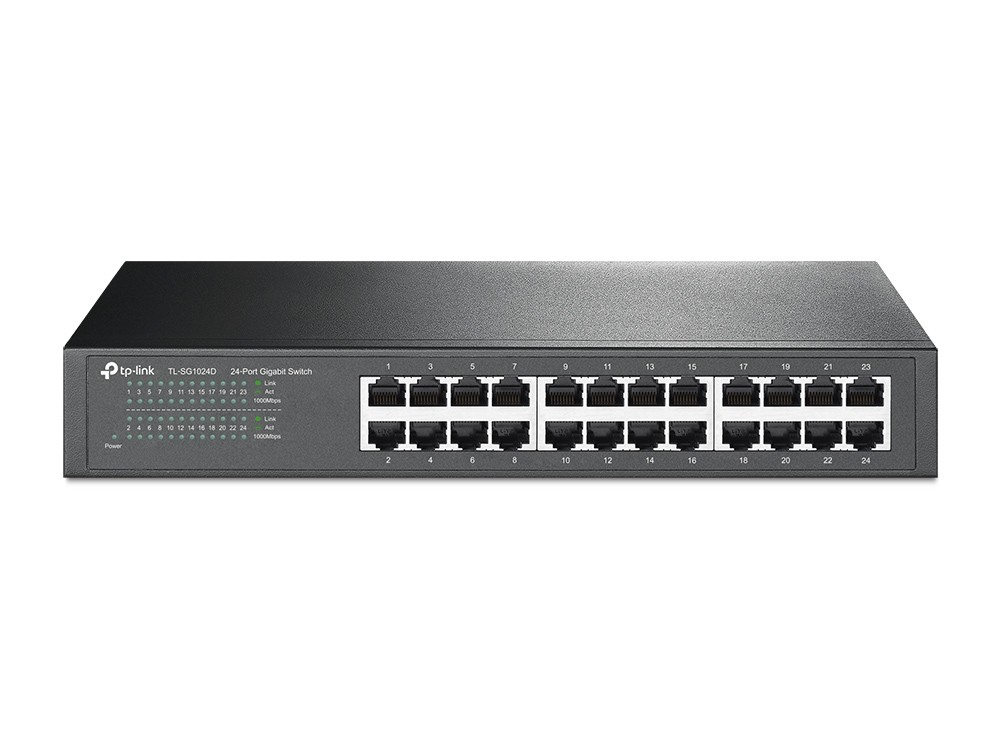 Swtich Gigabit 24 Portas 10/100/1000 TL-SG1024D - TP-Link