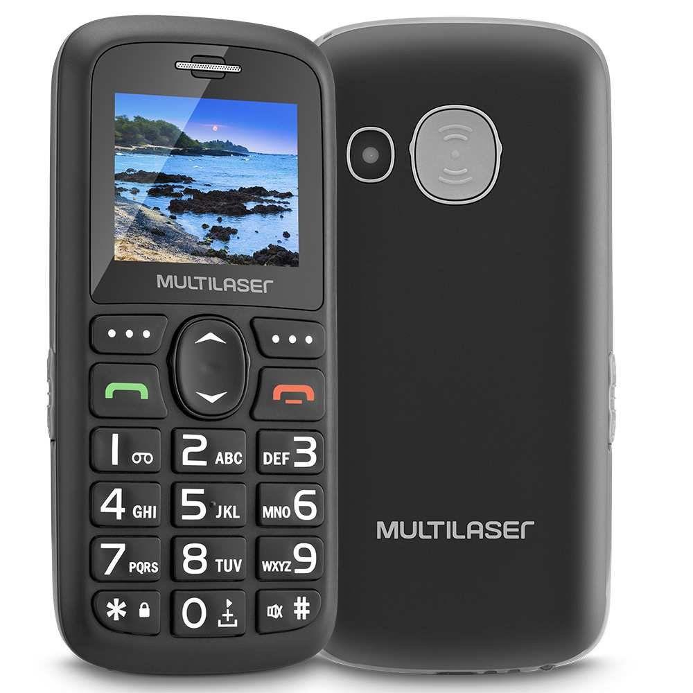 Telefone Celular Vita Dual Chip VGA 1.8 Preto P9048 - Multilaser