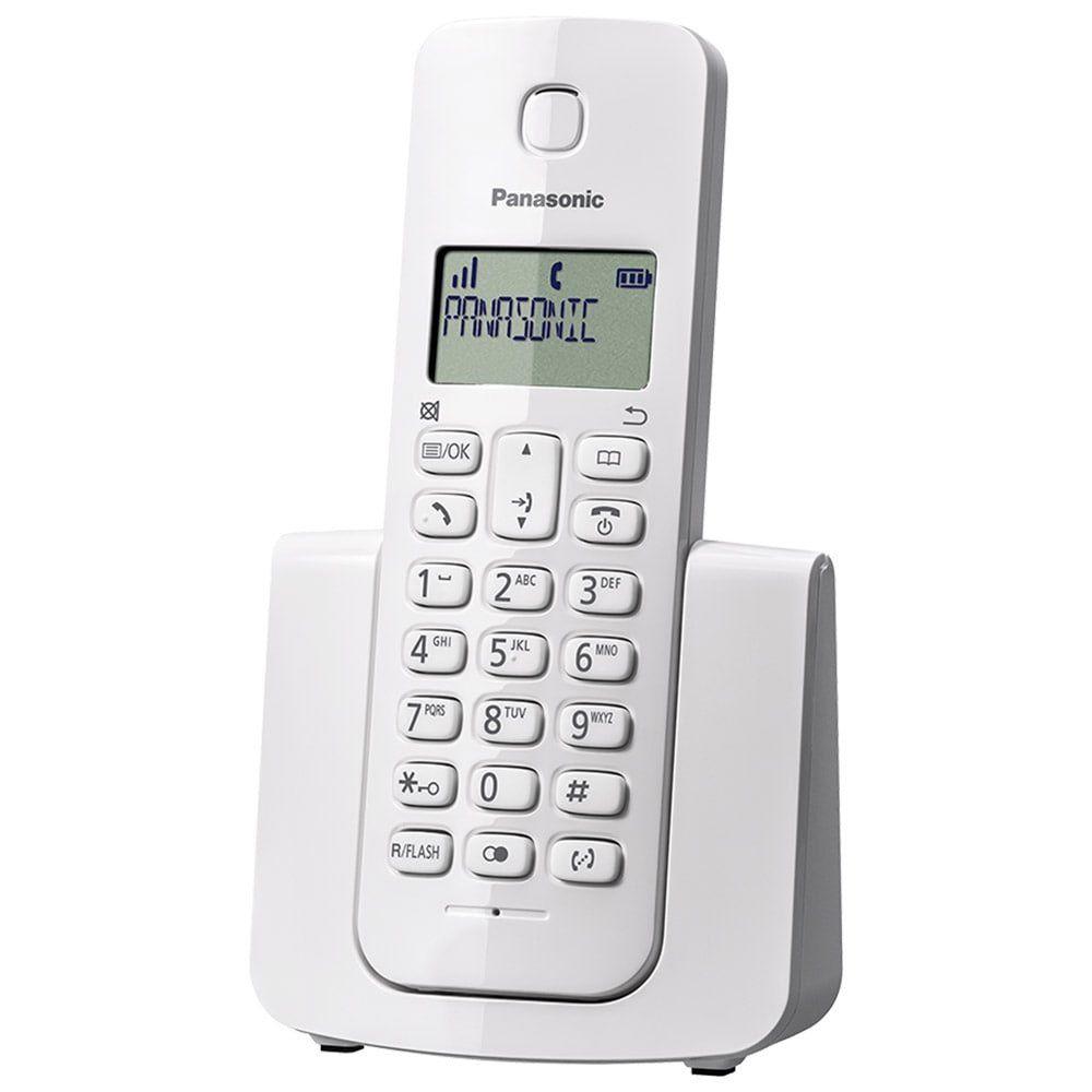 Telefone Sem Fio Dect 6.0 com ID de Chamadas, 1.9Ghz, Branco KX-TGB110LBW - Panasonic