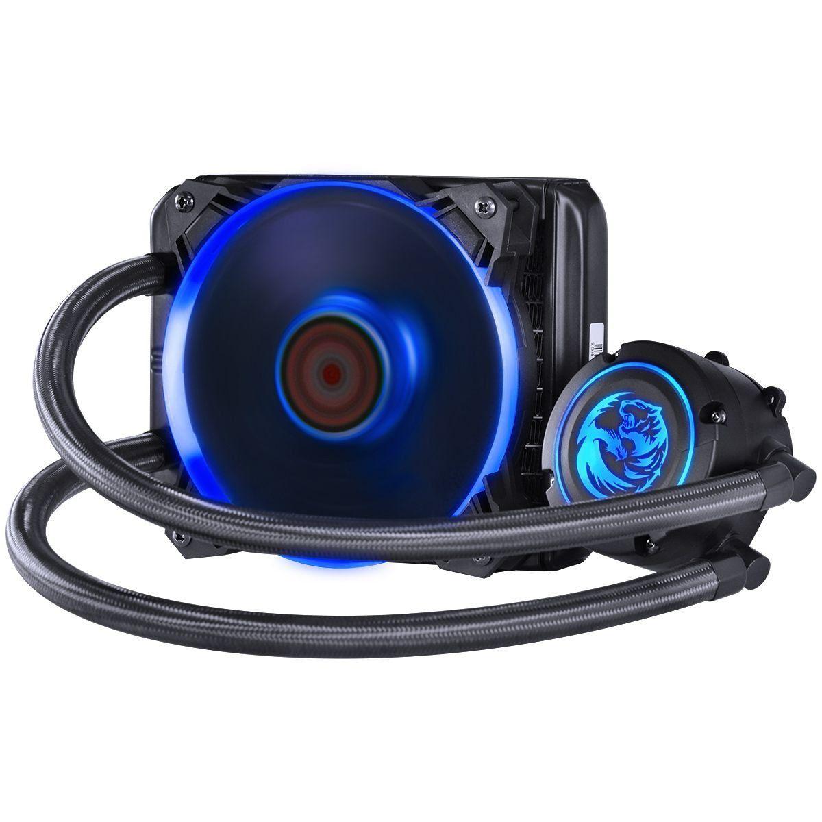 Water Cooler NIX 120mm Mangueiras de Nylon e LED RGB PWC120H40PTRGB 28202 - Pcyes