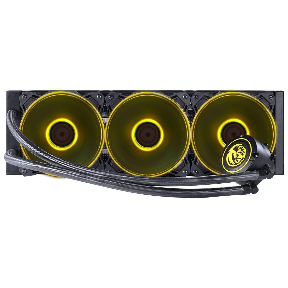 Water Cooler NIX 360mm Mangueiras de Nylon e LED RGB PWC360H40PTRGB 29182 - Pcyes