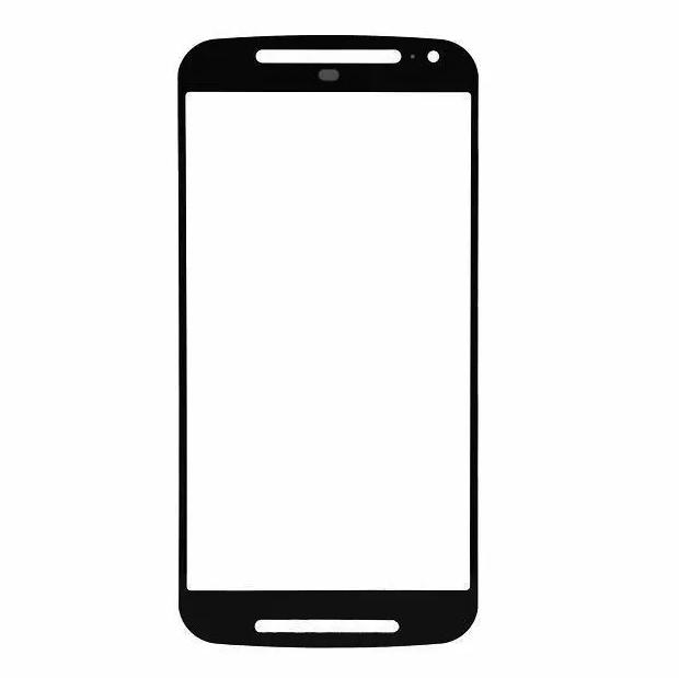 Lente Vidro sem Touch Moto G2 2 Geração Xt1068 Xt1069 Preto