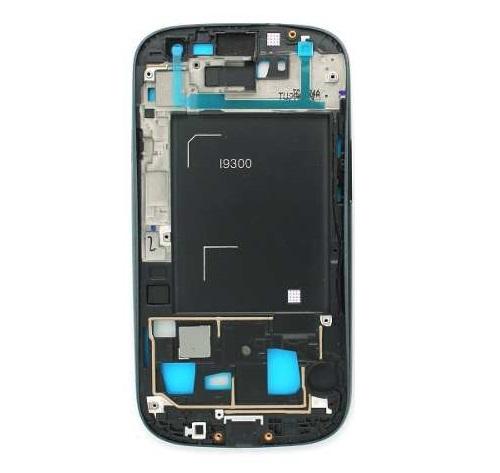Carcaca Traseira Aro Lateral Samsung S3 Gt-I9300 Chumbo