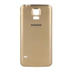 Tampa Bateria Traseira Samsung Galaxy S5 Sm-g900 Dourado Original