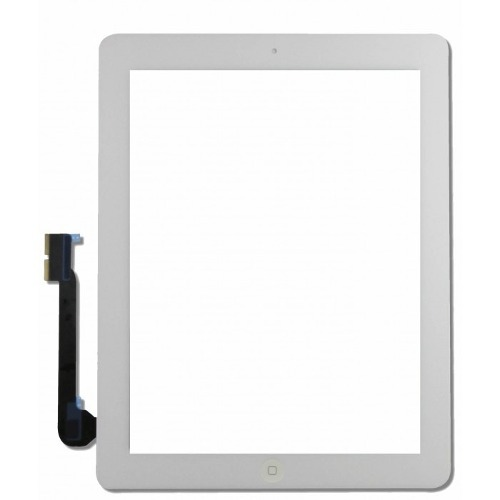 Touch Apple iPAd 3 A1403, A1416, A1430 e iPad 4 A1458, A1459, A1460 com Botão Home Branco