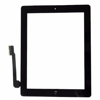 Touch Apple iPAd 3 A1403, A1416, A1430 e iPad 4 A1458, A1459, A1460 com Botão Home Preto