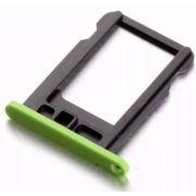 Gaveta Holder Bandeja Chip Nano Sim Card Iphone 5c Verde