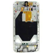 Carcaca Lateral com Aro Motorola X2 XT1097 Branco