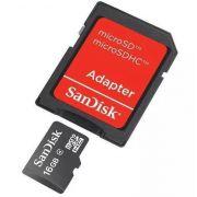 Cartao Micro Com Adaptador 16GB Sandisk