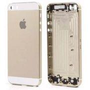 Carcaca Iphone 5S Dourado Gold Nao Acompanha Flex e Componentes