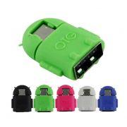 Adaptador OTG V8 Para USB Fêmea Pen Drive - Escolha A Cor