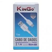 Cabo De Dados V8 1 Metro 2.1A - Escolha A Cor