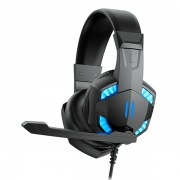 Fone Headset Gamer Led Azul GT-F6