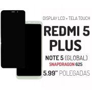 Display Frontal Xiaomi Redmi 5 Plus 5.99 Pol. Snapdragon 625 1 Linha Max - Escolha Cor
