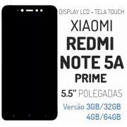 Frontal Xiaomi Redmi Note 5A Prime 5,5 Polegadas Preto AAA - Não Compatível com Redmi Note 5A