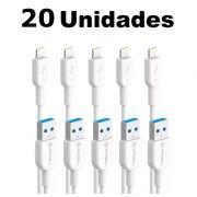 Kit Cabos iPhone 5 Lightning Pmcell Solid 979 CB-11 1 Metros com 20 Peças