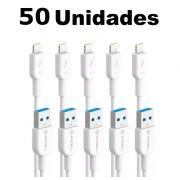 Kit Cabos iPhone 5 Lightning Pmcell Solid 997 CB-11 2 Metros com 50 Peças
