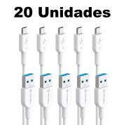 Kit Cabos V8 Pmcell Solid 989 CB-11 1 Metros Compatível Samsung com 20 Peças