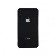 Tampa Traseira Acrílico iPhone Xs A1920, A2097, A2098, A2099, A2100 Com Lente Preto
