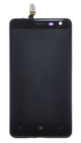 Frontal Nokia Lumia 625 Preto com Aro
