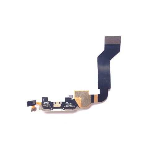Flex Placa Conector de Carga e Microfone Apple iPhone 4S Branco
