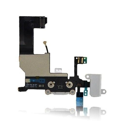 Flex Conector Carga Usb Fone Microfone Antena Apple Iphone 5 Branco