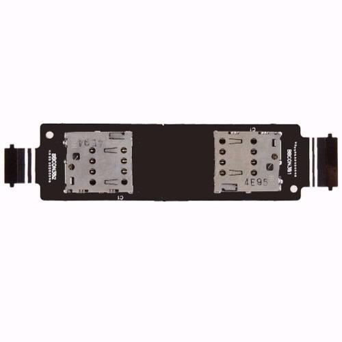 Conector Dual Chip Flex Asus Zenfone 5 A501 Chip Sim Card T00j