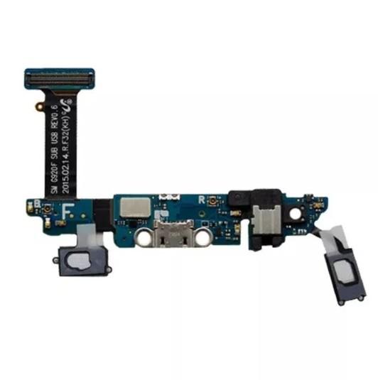 Flex Com Conector de Carga Jack P2 Microfone Samsung S6 Sm-G920f G920f