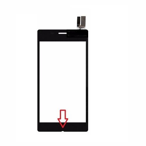 Touch Sony Xperia M2 Aqua D2403 D2406 Preto 1 Linha