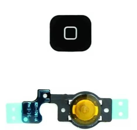 Botão Home Flex Apple Iphone 5C Preto