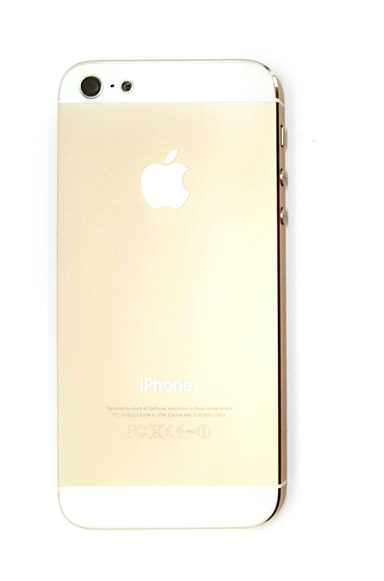 Carcaça iPhone 5G com Componentes Dourado