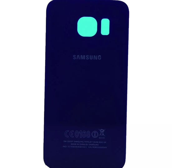 Tampa Traseira Samsung S6 G920 SM-G920 Azul Metálico Original