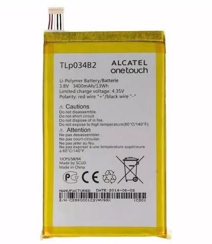 Bateria Alcatel TLP034B2 One Touch Pop S9 Heroi N3 Y910t 3400mAh