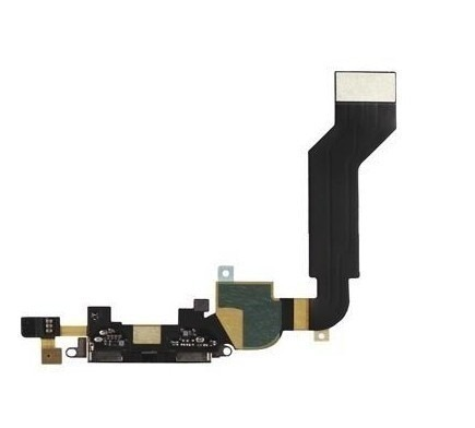 Flex Conector Carga Usb Fone Microfone Apple Iphone 4s Preto